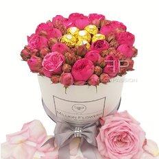 Rose in Scatola Million Flowers | Rose Rosa e Ferrero