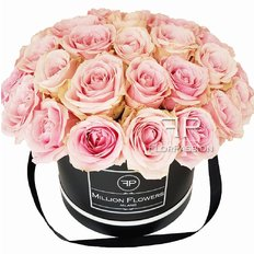 Rose Box | Pink Avalanche Roses | Million Flowers by FlorPassion