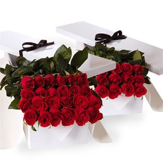 Red Roses Gift Box | Online Flowers Milan