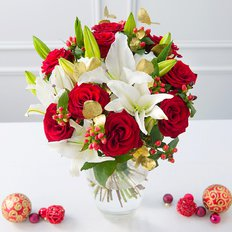 Sending Christmas Bouquet | Flowers Delivery Milan | Luxury Local Florist