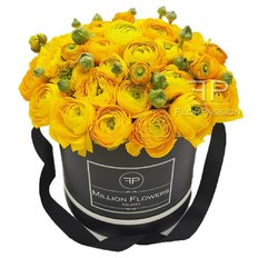 Scatola Million Flowers con Ranuncoli Gialli | FlorPassion Milano