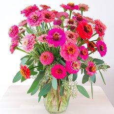 Organic Slow Flowers Delivery Milan Monza Como | Zinnia | Seasonal Flowers