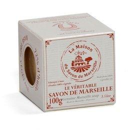 Sapun de Marsilia in cutie - Cub 100g 72% Uleiuri Vegetale