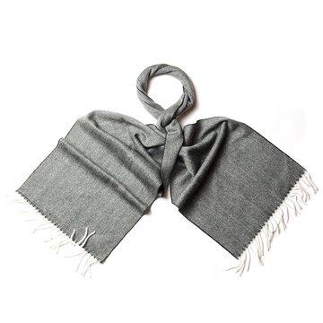 Tweed cashmere scarf