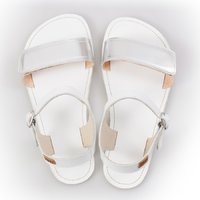 Adjustable strap sandals - Silver & White - in stock