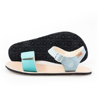 Adjustable strap sandals - Teal & Nude - in stock