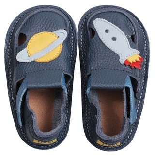 Barefoot kids sandals - Classic Blue Rocket