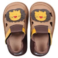 Barefoot kids sandals - Fearless lion