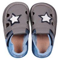 Barefoot kids sandals - Starlit sky
