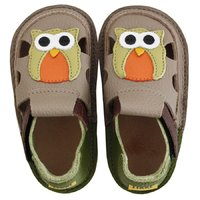 Barefoot kids sandals - Classic Summer owl