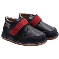 Barefoot leather boots - Red Navy