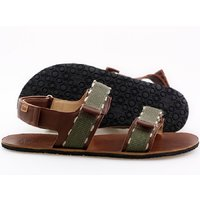 Barefoot men's sandals - MOSS - Brown