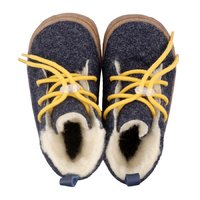 Felted wool boots - Beetle Navy 19-23 EU
