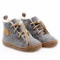 Felted wool boots - Beetle Gray 19-23 EU