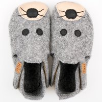 Felted wool shoes- Ziggy Mouse 24-32EU