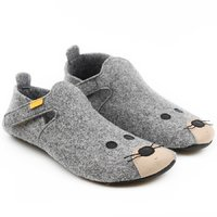 Felted wool shoes- Ziggy Mouse 36-40 EU