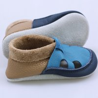 Multicolor soft shoes - Cappucino & Turquoise