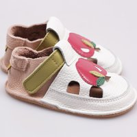 OUTLET Barefoot kids sandals - Delicious apple