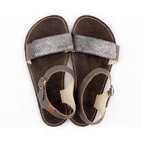 OUTLET - Sandale cu baretă ajustabilă - Silver- în stoc