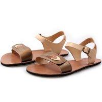 OUTLET - Sandale damă barefoot 'VIBE' - Browny Leaves