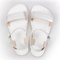 Sandale cu baretă ajustabilă - Silver & White - în stoc